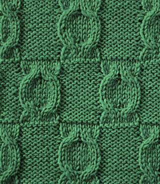 Knit Medallions - Stitch Sample