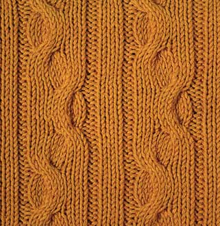 Knit Ribbon Cables - Stitch Sample