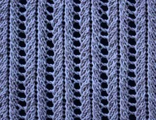 Lace Ribs I - Stitch Sample