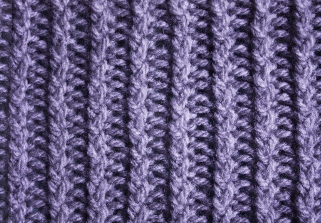 1x1 ZigZag Twisted Stockinette Ribs - Stitch Sample