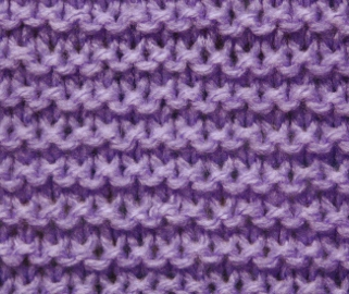 Garter Stitch - Stitch Sample