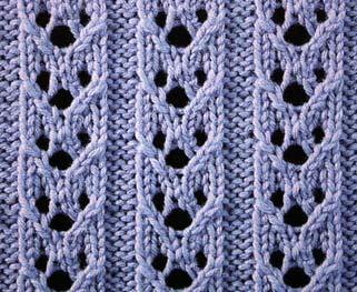 Hoops's Rib Stitch - Stitch Sample