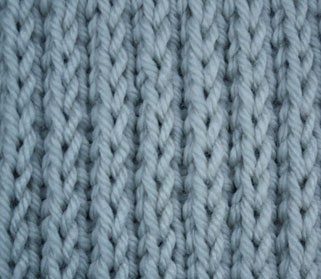 Raised Stockinette - Right Side Stitch Sample