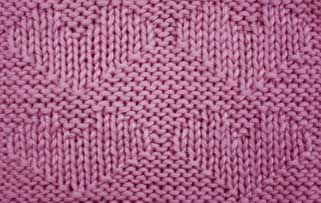 Simple Stockinette Hearts - Stitch Sample